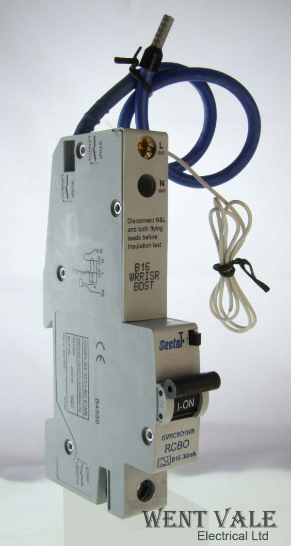 Sector SVRCBO16/B - 16a 30mA Type B Single Pole RCBO Un-used In Box